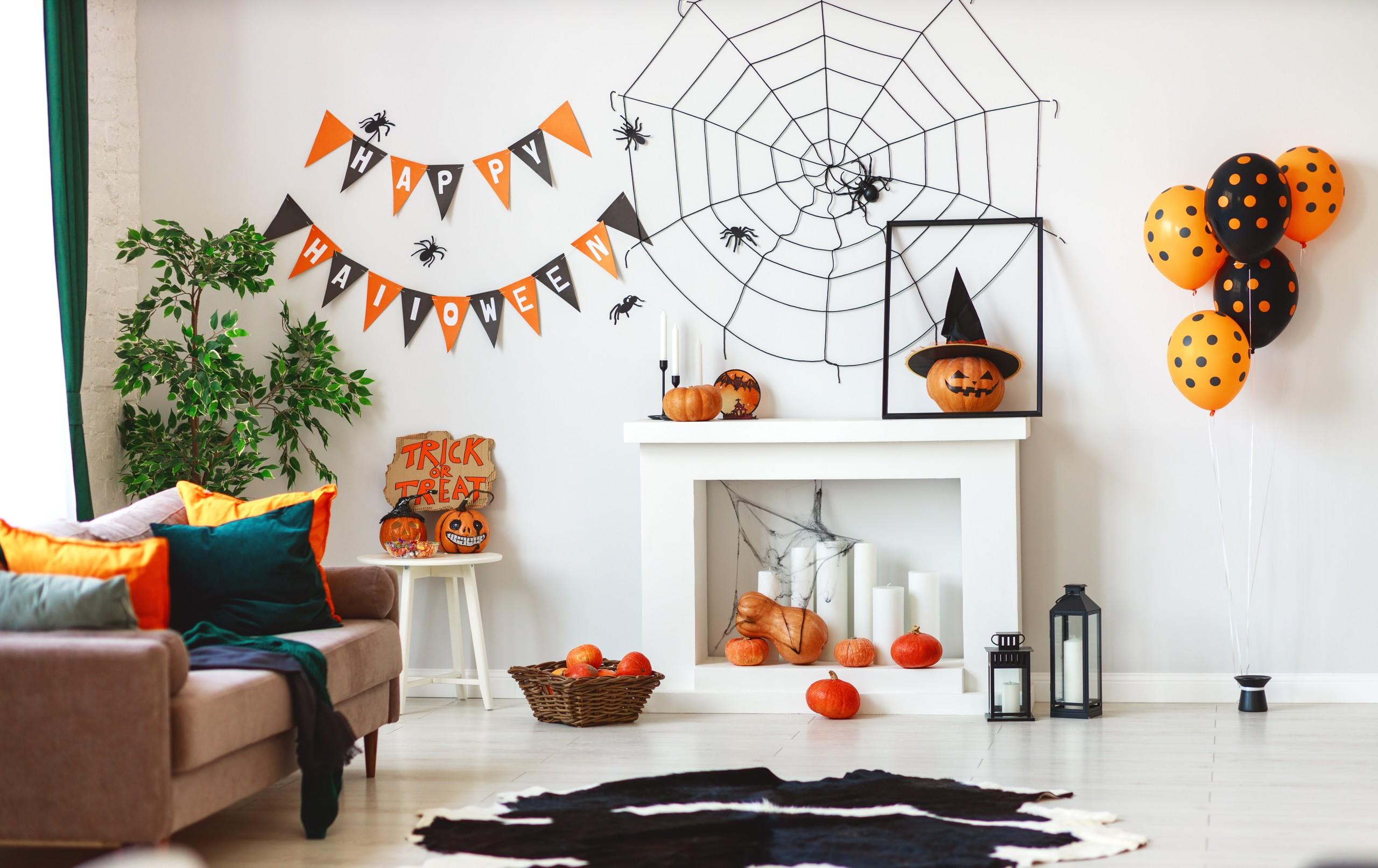 ハロウィンのお部屋の飾り付け