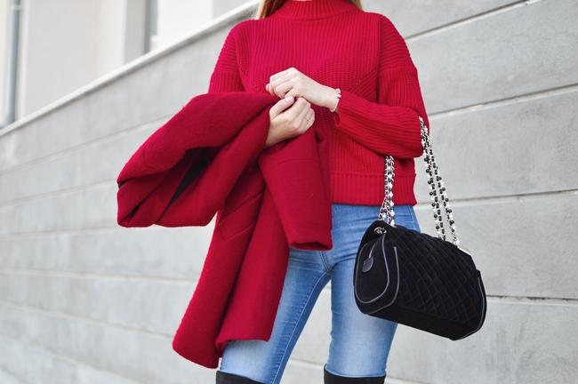 赤のファッション