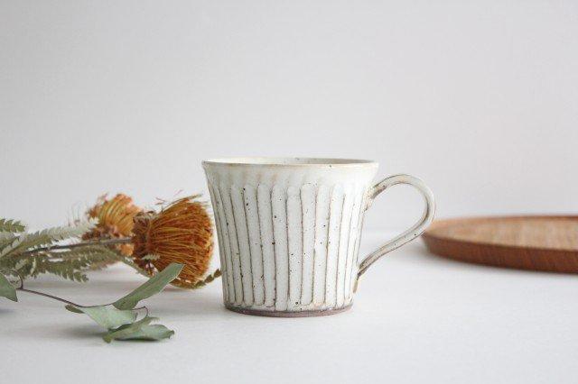 粉引削りマグカップ 陶器 美濃焼